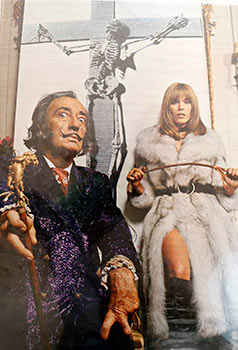 Salvador Dali, Woman with a Riding Crop in Fur Coat and Crucified Skeleton. Salvador Dali.