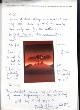 Jean Michel Folon. His wife Paola Ghiringhelli offers many printswith 16 with 16 color reproductions Signed by Folon. Jean Michel Folon, Paola Ghiringhelli.