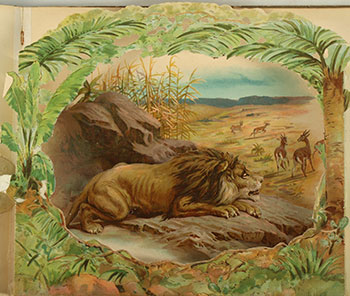 Wild Animal Stories, a Panorama Picture Book. First edition. C. Manville Fenn, Introduction.