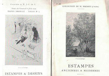 Group of 11 Print (Estampes) auctions catalogues for which Loys Delteil was the Expert. Loys Delteil.