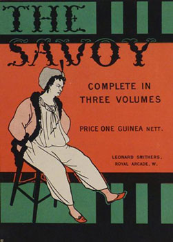 "Poster for ""The Savoy. Complete in three volumes. ""First Edition. Aubrey Beardsley."