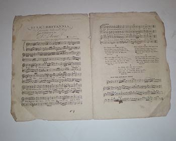 Rule, Britannia! A favorite National Song. Composed by Dr. Arne. Price 1s. Original engraved sheet music. Thomas Augustine Arne.
