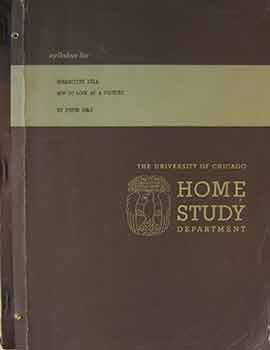 Syllabus for Humanities 185: Understanding Modern Art: The University of Chicago Home Studies Department. First edition, very scarce. Peter Selz, Thalia Selz, The University of Chicago.