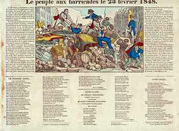 Le peuple aux barricades le 23 février 1848. (The people at the barricades on February 23, 1848). 19th Century French Artist.