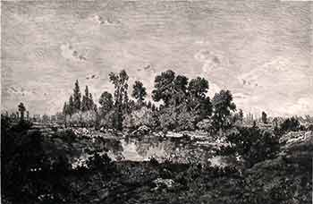 Morning. (First edition of the etching.). Th. Rousseau, Kratke, Artist, Engraver.