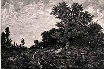 Edge of the Woods of Monts Girard. (First edition of the etching.). Th. Rousseau, Boulard junior, Artist, Engraver.