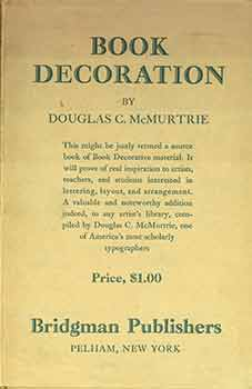 Book Decoration. Douglas C. McMurtrie.