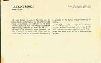 Tule Lake Refuge, Glen Canyon Dam, Inside the Turbine, Gibson Dam, and other short essays. Bureau of Reclamation Art Collection.