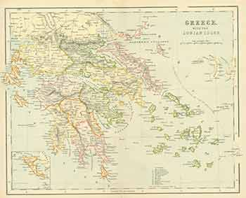 Greece with the Ionian Isles (Map). 19th Century European Engraver.
