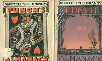 Martell's Brandy: Punch's Almanack for 1912; 1913 [Two issues]. Agnew Bradbury, Ltd Co, pub.