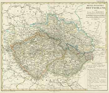 Map Of Central Germany.Mittel Ostliches Deutschland 19th Century Map Of Central Eastern Germany By Joh Carl Ausfeld A Stieler Johann Carl Engraver On Alan Wofsy Fine