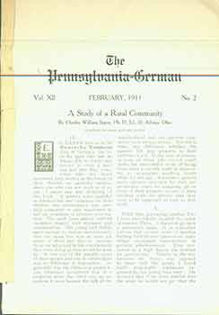 The Pennsylvania-German Vol. XII No. 2 February 1911. H. W. Kriebel.