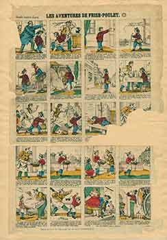Les Aventures de Frise-Poulet. (Adventures of Friesian Chicken). 19th Century French Artist.
