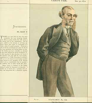 Mr Roger Eykyn MP; The Police Champion. No. 213. (Original Lithograph.). Coïdé, July 26 Adriano Cecioni, 1886, 1836 - May 23, Lith.