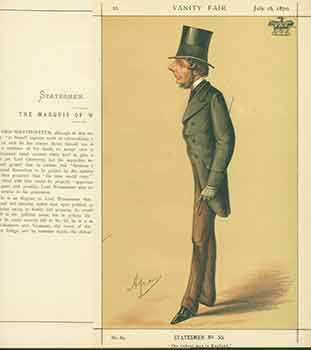 The Marquis of Westminster; The Richest man in England. Issue No. 89. (Original Lithograph.). Ape, 1839 - 1889 Carlo Pellegrini, Lith.