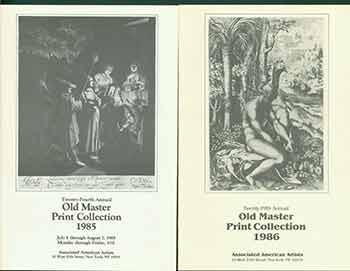 Old Master Print Collection 1985 &1986. [Two Auction Catalogues]. Associated American Artists, NY New York.