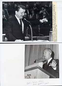 Health and Welfare Chief Spencer Williams; Public Schools Chief Max Rafferty, Sacramento, California. (Two Original Photographs). Walt Zeboski.
