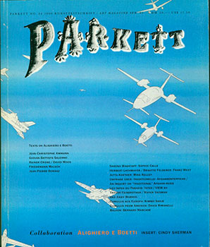 Parkett No. 24 1990. Kunstzeitschrift / Art Magazine. Collaboration Alighiero E Boetti. Insert : Cindy Sherman. Bice Curiger, -in-chief.