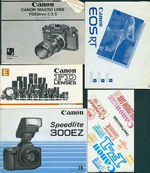 Canon instruction manuals for the Speedlite 300 EZ E , FD Lenses E
