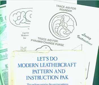 Let's do Modern Leathercraft Pattern and Instruction Pak. Tandy Leather Company, Texas Ft Worth.