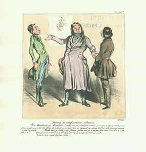 """Bureau de remplacements militaires (Military Replacement Office)..."" from Caricaturana: Robert Macaire Series, 1836-1838. Plate No. 28. Honoré Daumier."