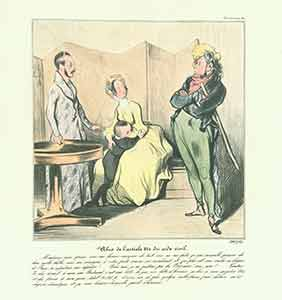 """""""Abus de l'article 214 du code civil (Abuse of article 214 of the civl code)..."""" from Caricaturana: Robert Macaire Series, 1836-1838. Plate No. 50. Honoré Daumier."""