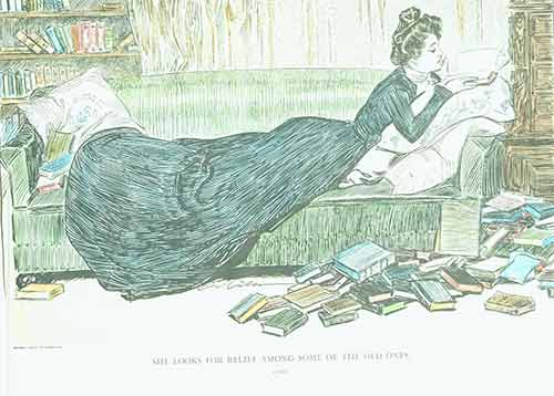 She looks for relief among some of the old ones. Charles Dana Gibson, fecit.