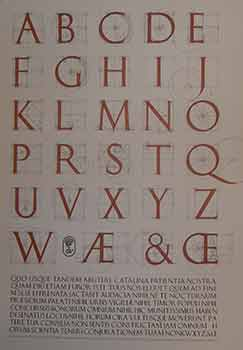 Second draft of a constructed Roman alphabet being a geometric analysis of the Greek and Roman capitals and the Arabic numerals. (Exhibition Poster). David Lance Goines.