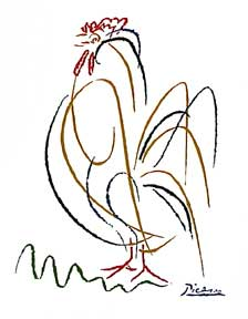 Rooster. Pablo Picasso.