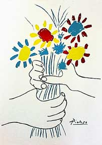 Bouquet of Flowers. Pablo Picasso.