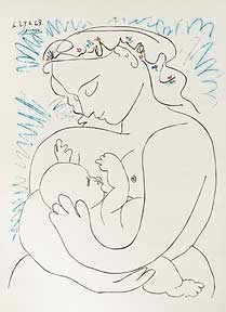 Mother & Suckling Child. Pablo Picasso.