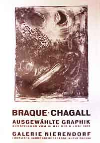 Braque - Chagall [poster]. Marc Chagall.