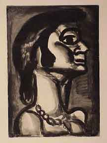 En Bouche - Miserere 15. [Mouthhat was fresh, bitter as gall]. Georges Rouault.