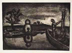 Au pays de la soif - Miserere 26. [In the land of thrist and terror]. Georges Rouault.
