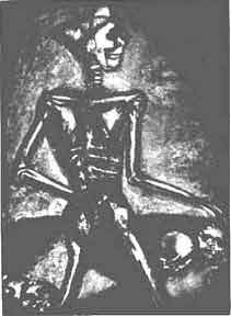 Homo homini lupus - Miserere 37. [Man is a Wolf to Man]. Georges Rouault.