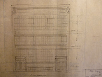 Building Plans and Elevation for James H. Hjul between 6th St. and Harriet St., San Francisco. James H. Hjul.