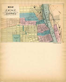Map Of New York 1850.Map Of The City Of Albany New York Ca 1850 By Charles Magnus On Alan Wofsy Fine Arts