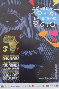 Poster for Sénégal Third World Festival of Black Arts and Cultures - 3e Festival Mondial des Arts Nègres. FESMAN.