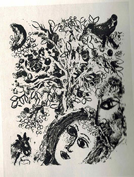 Couple beside Tree. Le couple devant l'arbre. Marc Chagall.