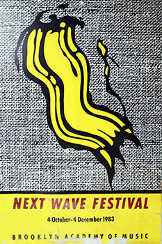 Next Wave Festival. Brooklyn Academy of Music.1983. Poster. Roy Lichtenstein.