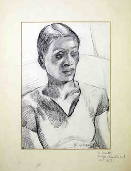 Portrait of an African American woman in 1943. Raphael. Diana.