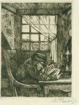 Portrait of a 19th Century Man Reading. Marc PROESSEL.