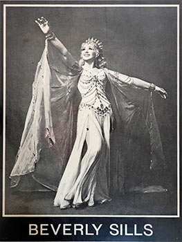 Bevery Sills in a tiara and gown. [No images on Google]. Beverly Sills.
