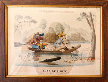 """Sure of a Bite. 'Golly! Dis am a high old picnic!'"""" Thomas Worth."""