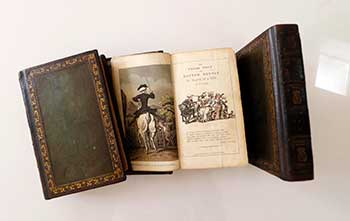 The Tour of Doctor Syntax, in Search of the Picturesque. [With:] The Second Tour of Doctor Syntax, in Search of Consolation. [With:] The Third Tour of Doctor Syntax, In Search of A Wife. Original miniature edition. William Combe, Rowlandson Thomas, author.