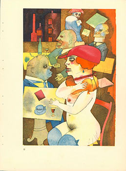 Schönheit, dich will ich preisen. Beauty, Thee I Praise (1920) Aquarell Plate No. III from Ecce Homo. Originalausgabe. First edition. George Grosz, 1893 - 1959.