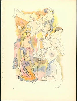 Prefessor Freud gewidmet. Dedicated to Professor Freud (1922) Aquarell Plate No. XI from Ecce Homo. Originalausgabe. First edition. George Grosz, 1893 - 1959.