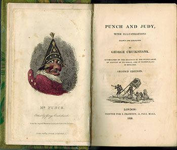 Punch and Judy, with Illustrations Drawn and Engraved by George Cruikshank. Second original edition. (Albert M. Cohn 's copy). George Cruikshank.