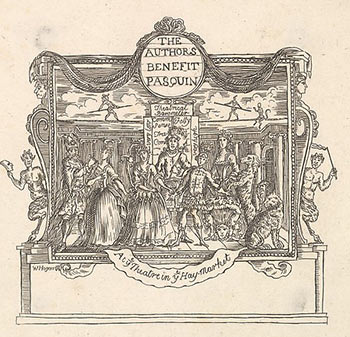 The Author's Benefit Pasquin. At ye Theatre in ye Haymarket. William Hogarth, After. Engraved Formerly attributed to Joseph Sympson Jr, active British.