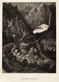 """""""Now when fantastic visions fill the air"""" Plate 7 from the """"Legend of the Wandering Jew."""" Gustave Doré, J. Gauchard, engraver."""